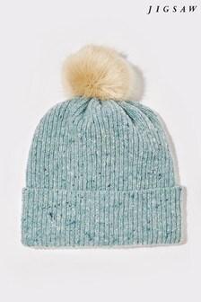 Jigsaw Blue Donegal Pom Hat