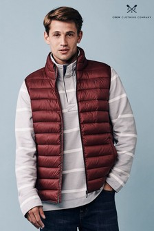 Crew Clothing Company Red Lightweight Gilet