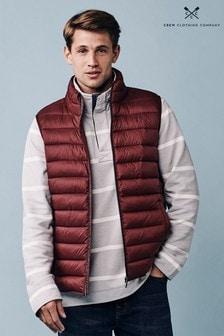 Červená ľahká prešívaná vesta Crew Clothing Company