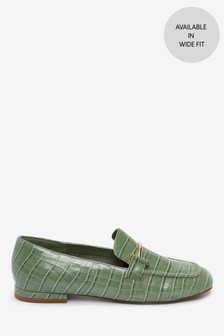 Square Toe Snaffle Loafers