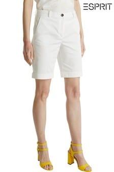 Esprit White Bermuda Woven Shorts
