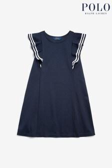 Polo Ralph Lauren Navy Ruffle Dress