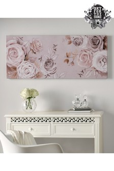 Mixed Media Rose Trial Wall Art by Art For The Home