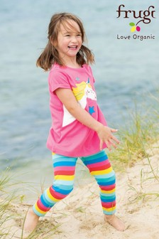 Frugi GOTS Organic Rainbow Leggings With Added Stretch