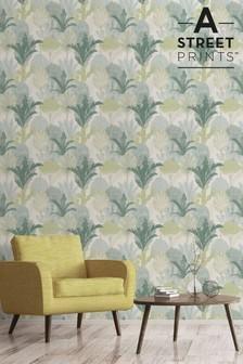A Street Green Ari Wallpaper