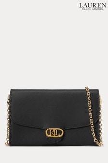 Lauren Ralph Lauren® Black Leather Adair Cross Body Bag