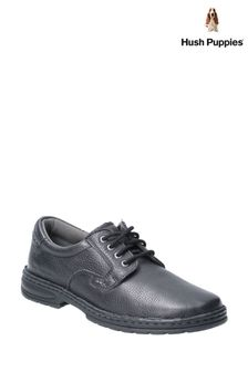 Hush Puppies Black Outlaw II Lace-Up Shoes