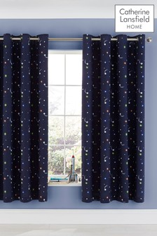 Happy Space Eyelet Curtains by Catherine Lansfield