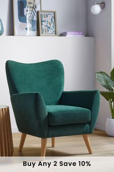 Wilson Accent Chair With Natural Legs