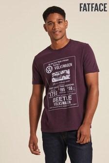 FatFace Purple VW Camper Poster Graphic T-Shirt