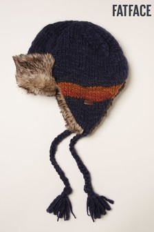 FatFace Blue Striped Trapper Hat