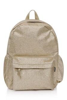 Girls Gold Glitter Backpack