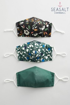 Seasalt 3 Pack Shaped Seasalt Fabric Face Coverings