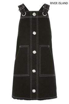 River Island Black Bling Button Dress