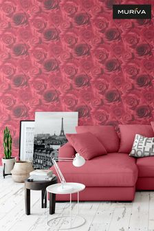 Madison Floral Rose Wallpaper by Muriva