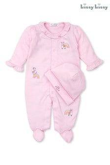 Kissy Kissy Pink Llamas Babygrow and Hat Set