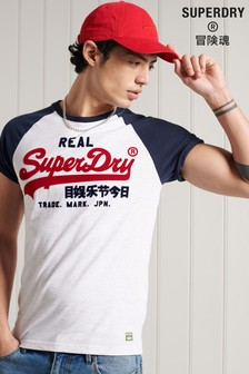 Superdry Vintage Logo Duo Raglan T-Shirt