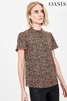 Oasis Leopard Print T-Shirt