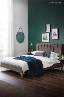 Deco Scalloped Velvet Bed by Julian Bowen