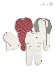 The Essential One Unisex Baby Ditsy Star Sleepsuits Three Pack