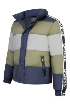 Guess Kids Blue Green & Silver Padded Jacket