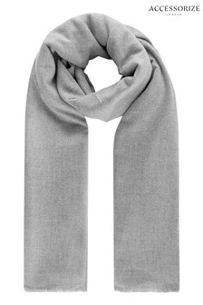 Accessorize Grey Wells Supersoft Blanket Scarf