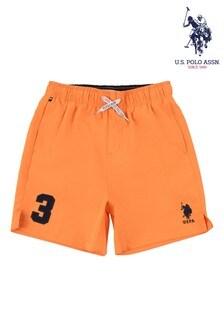 U.S. Polo Assn Orange Player 3 Swim Shorts