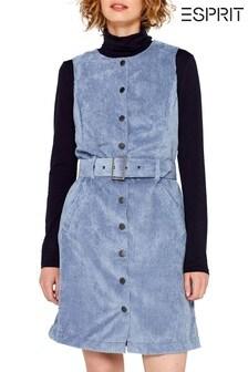 Esprit Blue Corduroy Dress