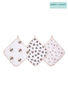 aden + anais Essentials Minnie Rainbows Washcloths Set Three Pack