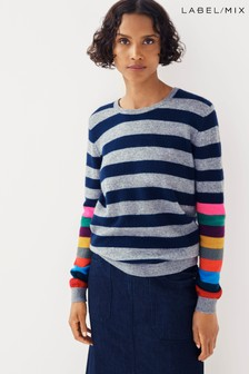 Mix/Jumper1234 Multi Stripe Cashmere Knit