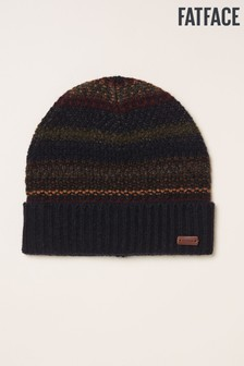 FatFace Blue Textured Knit Beanie