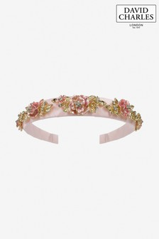 David Charles Pink/Gold Embellished Hairband