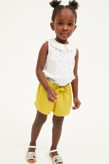 Linen Blend Bow Shorts (3mths-7yrs)