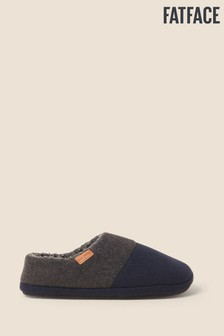 FatFace Blue Maddox Col Block Slippers