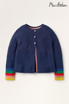 Mini Boden Blue Cotton Cashmere Cardigan