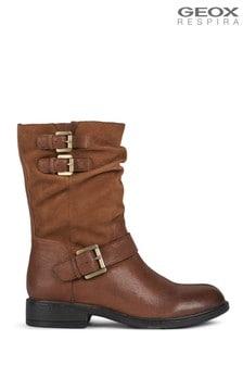 Geox Women's Catria Cognac Boots