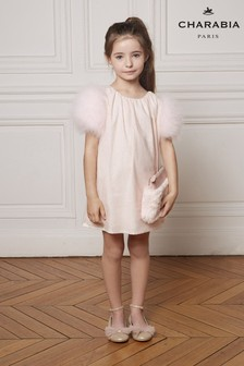 Charabia Pink Feather Sparkly Dress