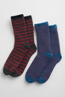 Seasalt Orange Men's Cabin Socks Two Pack
