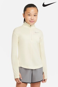 Nike Performance Cream 1/2 Zip Running Top