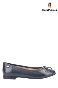 Hush Puppies Blue Naomi Slip-On Ballet Pumps