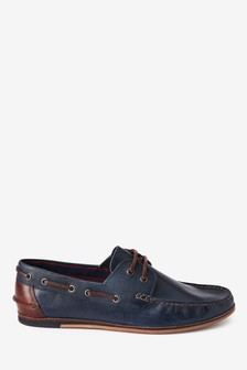 Formal Textured Leather Boat Shoes