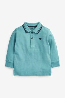 Long Sleeve Plain Polo Shirt (3mths-7yrs)
