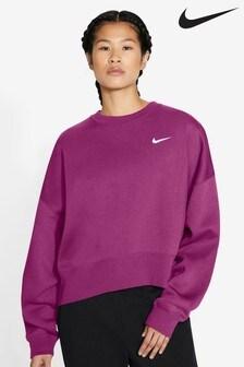 Nike Essential Fleece Oversized Crew Neck Sweater