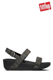 FitFlop™ Black Lottie Stripy Glitter Sandals