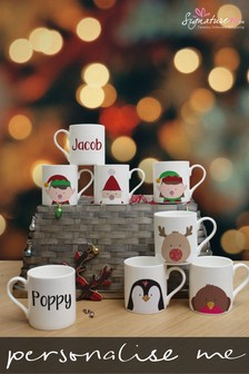 Personalised Christmas Characters Mug by Signature PG