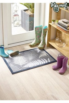 Leaves Washable And Recycled Non Slip Doormat by My Mat