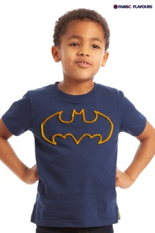 Fabric Flavours Blue Batman® Tuft Logo T-Shirt