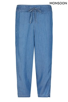 Monsoon Blue Denim Blue Trousers
