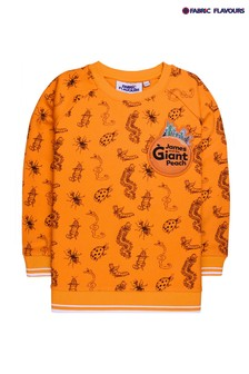 Fabric Flavours Orange James And The Giant Peach Sweatshirt