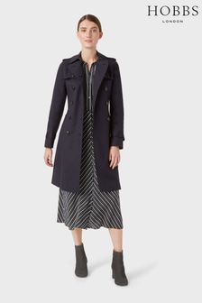 Hobbs Blue Petite Saskia Trench Coat